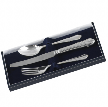 Sterling Silver 'Dubarry' Three Piece Child's K.F.S. Set